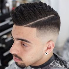 Hard Part Comb Over with Fade and Shape Up