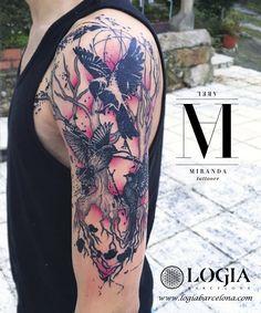 Φ Artist ABEL MIRANDA Φ  Info & Citas: (+34) 93 2506168 - Email: Info@logiabarcelona.com  #logiabarcelona #logiatattoo #tatuajes #tattoo #tattooink #tattoolife #tattoospain #tattooworld #tattoobarcelona #ink #arttattoo #artisttattoo #inked #instattoo #inktattoo #tatuagem #tattoocolor #psychedelictattoo #psychedelicart #dotwork #geometrictattoo #puntillismo #tattooart #tattooist #tattoolife #ink #inkaddict #pajaros #birds