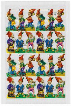 Vintage Christmas, Christmas Crafts, Mlp, Die Cut Paper, Vintage Greeting Cards, Collage Sheet, Paper Goods, Gnomes, Paper Scraps
