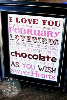 Valentine Subway Art Printable