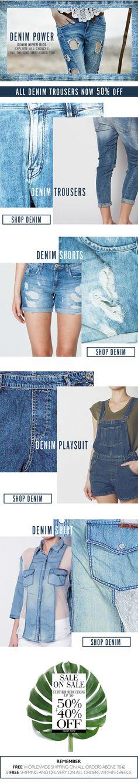 BSB Fashion Newsletter S/S 15-Denim Power  Shop online >> www.bsbfashion.com