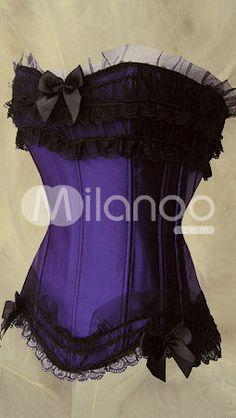 Gorgeous Strapless Lace Corset - Milanoo.com