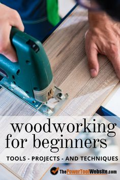 Woodworking Shop Woodworking for beginners - Tons of advice for beginner woodworking - Tools, beginner projects, and woodworking techniques every woodworker should master. Used Woodworking Tools, Beginner Woodworking Projects, Woodworking Techniques, Popular Woodworking, Woodworking Furniture, Woodworking Crafts, Woodworking Plans, Woodworking Basics, Woodworking Classes