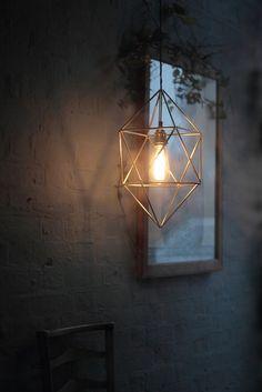 Handmade Brass Himmeli Pendant Light