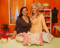 Really cute pillows on Sew It All show, Episode 407.  There is a tutorial.