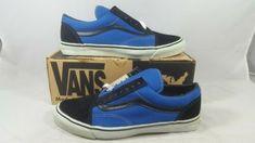 0a5a5ec995 Vintage Vans OLD SKOOL BLACK ROYAL BLUE made USA Men s Size 12 SK8 HI BMX  NOS