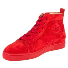 Christian Louboutin Louis Flat High-Top Sneakers
