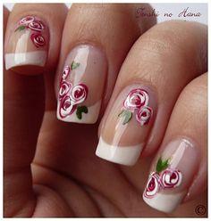 nails / nail art / uñas / roses