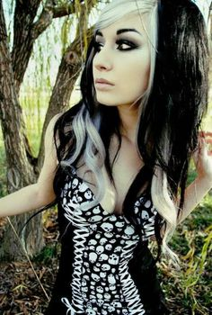 Black and white hair/ gonna do this. tired of gray and coloring over it.