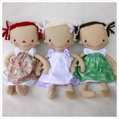 Billie Anne PDF Pattern- makes a primitive style raggedy doll Softies, Doll Toys, Baby Dolls, Girl Dolls, Sewing Crafts, Sewing Projects, Operation Christmas Child, Sewing Dolls, Little Doll
