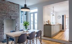 kitchen A DIY Renovation of a Terraced House Small Kitchen Diner, Small Open Plan Kitchens, Kitchen Diner Extension, Open Plan Kitchen Living Room, Open Plan Living, My Living Room, Dining Room, Kitchen Extension Terraced House, Open Kitchens