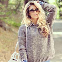 light chunky sweater
