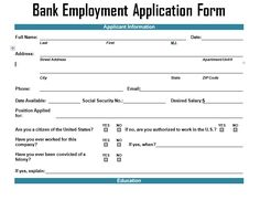 microsoft employment application template
