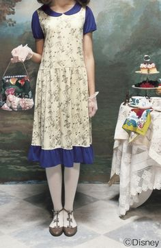 fashion connection[ファッションコネクション]|<Disney>なりきり気分♪丸衿カットソーワンピース<アリス>|フェリシモ