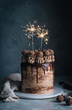 *This Nutella Stuffed Chocolate Hazelnut Dream Cake is truly a cake for a celebration. Layers of super-moist chocolate cake are filled with homemade nutella, frosted with smooth chocolate Italian meringue buttercream, drizzled with rich chocolate ganache