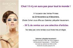Offre spéciale à l'occasion des ventes privées aux Galeries Lafayette Haussmann