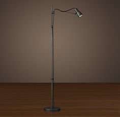 Vintage Sewing Task Floor Lamp - Aged Steel