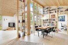 Architect-designed holiday home in Burvik, Sweden Style At Home, House By The Sea, Modern Cottage, Compact Living, Scandinavian Home, Prefab, Small Apartments, Home Fashion, Stockholm