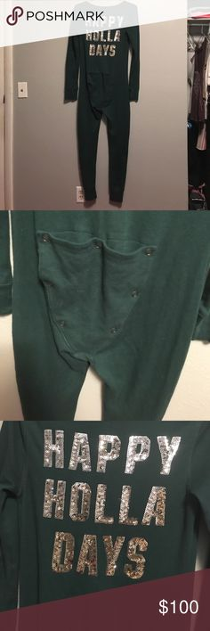 Vs green onesie New condition, no flaws. Please feel free to make offers PINK Victoria's Secret Intimates & Sleepwear Pajamas