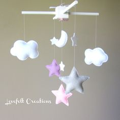 Baby Crib Mobile  Baby Mobile  Aqua Coral Mobile  by LoveFeltXoXo, $95.00