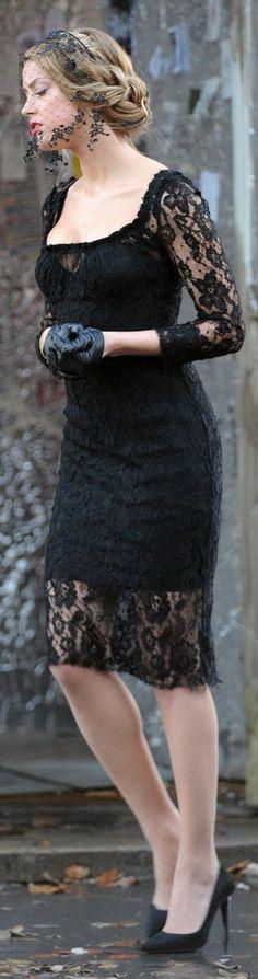 lacy little black dress