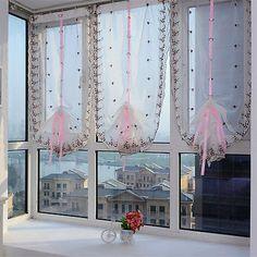 Bestickt Blumen Tüll Fenster Bildschirme Tür Balkon Vorhang Durchsichtig Schal