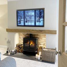 Living Room Built Ins, Home Living Room, Living Room Decor, Living Area, Cosy Fireplace, Fireplace Design, Fireplace Ideas, Living Room Color Schemes, Living Room Designs