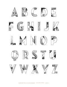 Tribal Alphabet - www.sdionbaker.com