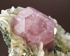 Pink Fluorapatite with Cassiterite and Mica - Pingwu Mine, Sichuan Province China fabreminerals.com