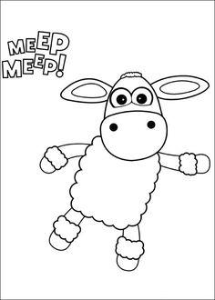 Shaun the sheep Tegninger til Farvelægning. Printbare Farvelægning for børn. Tegninger til udskriv og farve nº 33