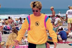 The late 1980s—a bright spot in Brad Gerlach's pro surf career, and a blindingly bright moment in surf style. Although, with nostalgia-driven cycles in fashion, this shot may have actually  been taken this summer. Photo by Doyle