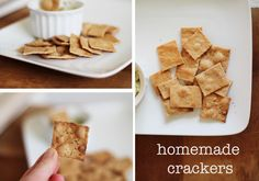 Simple and delicious homemade crackers