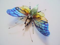 Butterfly, Circuit Board Insect by Julie Alice Chappell by DewLeaf on Etsy