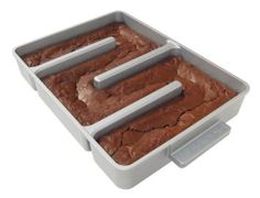 Kitchen & Dining: Baker's Edge Nonstick Edge Brownie Pan. If you're always fighting over the edge pieces, this is a pan that lets everybody get an edge piece!