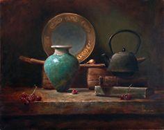 Asian Treasures by LOIS EAKIN Oil ~ 16 x 20