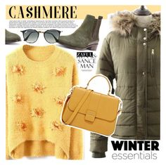 Cozy Cashmere Sweaters by vanjazivadinovic on Polyvore featuring moda, Donald J Pliner, Ray-Ban, polyvoreeditorial and zaful