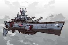Sketch - some light photobash, but insignificant. The Massachusetts II was one of the first American battlearks completed by Rexford Heavy Industries. However, given the sudden appearance of the Re...
