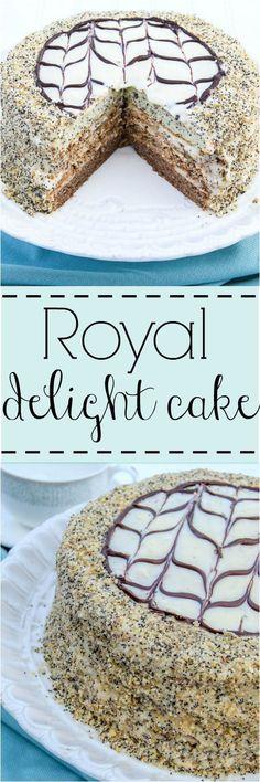 Poppyseed, meringue and chocolate layered cake. ValentinasCorner.com