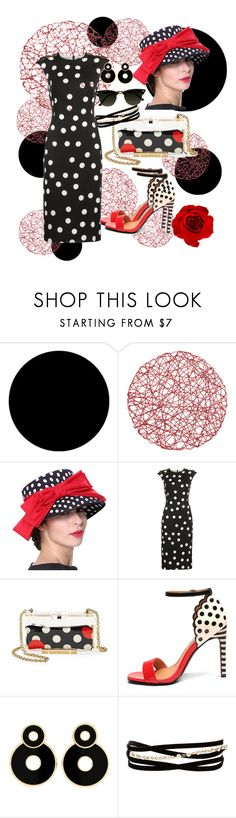 """""""Polka Dots - V"""" by mary-kay-de-jesus ❤ liked on Polyvore featuring Wall Pops!, Dolce&Gabbana, RED Valentino, Mambo, Pippa and Kenneth Jay Lane"""