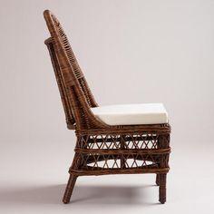 Dark Rattan Jayden Woven Chairs, Set of 2 | World Market