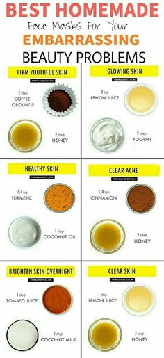 Beauty hacks beauty tips Best Homemade Face masks Clear Acne popular pin DIY tips beauty infographic glowing skin Diy Skin Care, Skin Care Tips, Skin Glow Tips, Beauty Care, Beauty Skin, Face Beauty, Beauty Makeup, Makeup Tips, Diy Beauty Mask