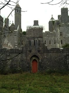 Dromore Castle, nr Limerick, Ireland, by E. Godwin, for the young third Earl of Limerick. On a wooded hilltop near the Shannon estuary he built a splendidly vigorous but almost uninhabitable building. Dismantled in only the shell remains. Oh The Places You'll Go, Places To Travel, Places To Visit, Beautiful Castles, Beautiful Places, Chateau Medieval, Art Ancien, Castle Ruins, Ancient Architecture