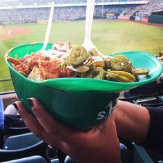 Love eating #nachos at baseball games. #letsgooakland #oaklandathletics #rootedinoakland #helmetnachos #lifebeyondrice #oaklandas #starwarsnight #oaklandfoodie #foodblogger #foodbloggerlife #takemeouttotheballgame