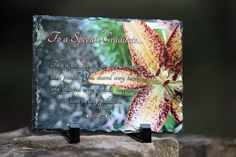 """Rectangle Sedimentary Rock Slate (5.85"""" x 7.8"""". 3/8"""") Machined sublimation coated slate with natural edging. Comes with black plastic """"feet"""". Slate can vary in size by up to -0.4"""".     Sentimental Keepsake Rock Slate Photo Graduate Souvenir Gift"""