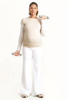 Weight Training for Pregnancy  Safely lift your way to fewer aches.