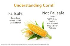 Understanding CORN. Failsafe refers to foods that are Free of Additives and Low in Salicylates, Amines, Glutamates and Flavour Enhancers