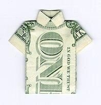 yes, i even did the origami dollar shirt Oragami Money, Origami Shirt, Folding Money, Paper Folding, Dollar Origami, Origami Ball, Make Money Fast, Creative Gifts, Creative Art