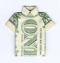 Origami Dollar Bill Shirt