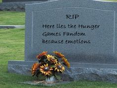 Here lies the Hunger Game fandom because emotions. This was me after I finished Mockingjay. GAH!!!