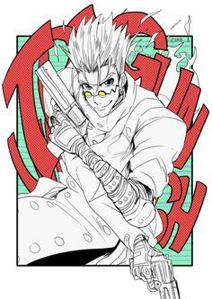 "diaemyung:""Trigun doodling . _ .)9"" Anime Music, Anime Art, Boruto Naruto Next Generations, Vash, Blue Exorcist, Cartoon Drawings, Akira, Peace And Love, Street Graffiti"